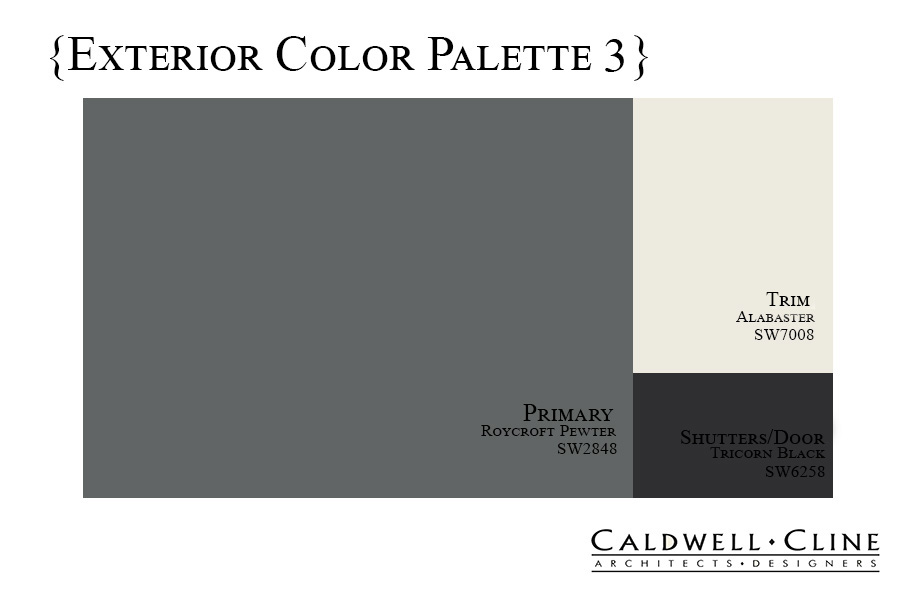 Exterior Color Palette - Caldwell-Cline Architects and Designers
