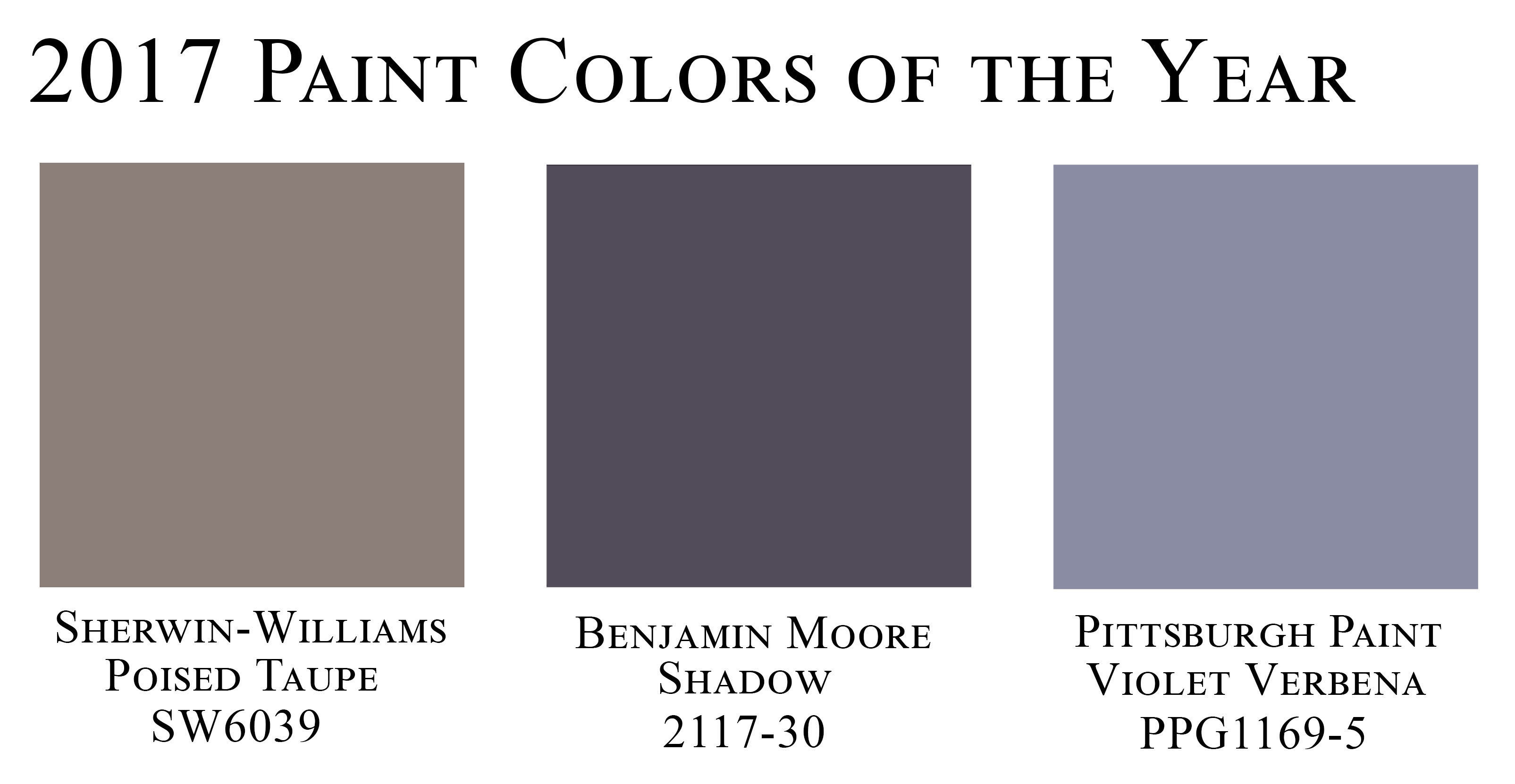 Paint Colors Of The Year 2017