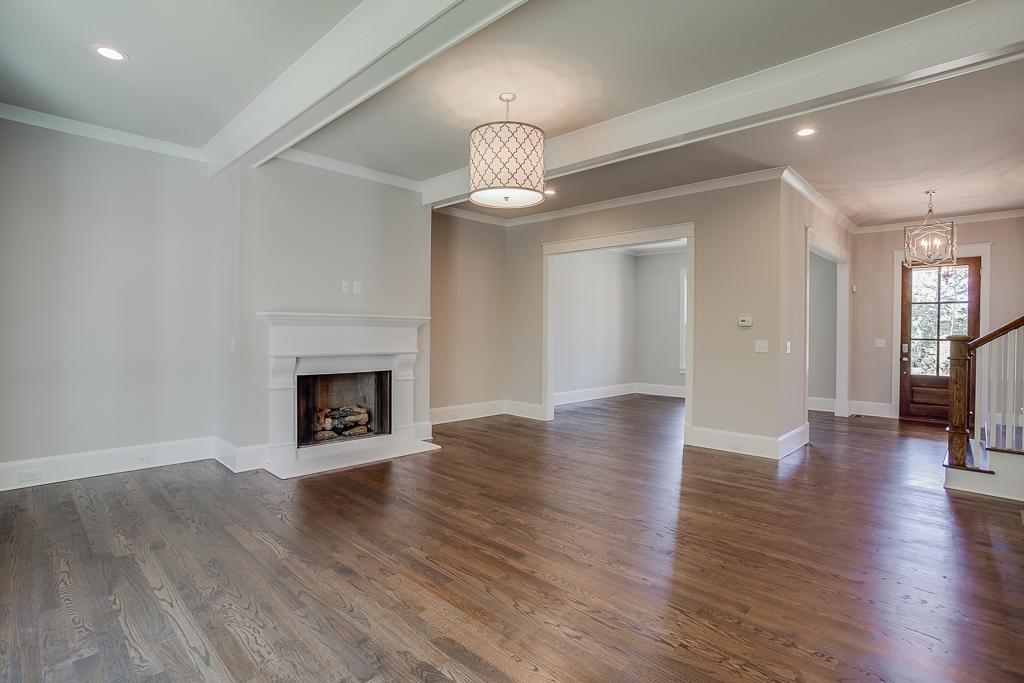 Family Room with Study by Front Door