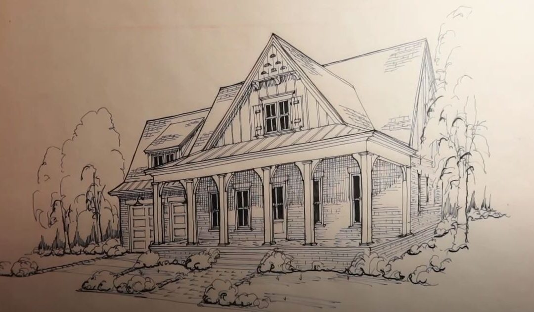Perspective Drawing of Custom Home | Video